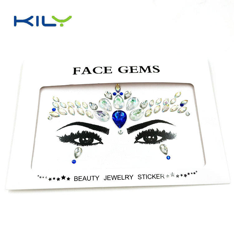 Original face gems sticker body crystal makeup sticker for salon KB-1152