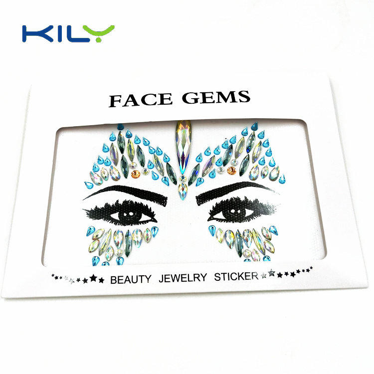 Custom cosmetic mermaid face gems sticker diamond body jewels KB-1154