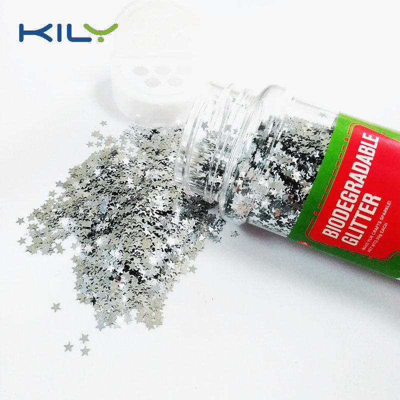 Biodegradable stars glitter plastic free glitter for decoration