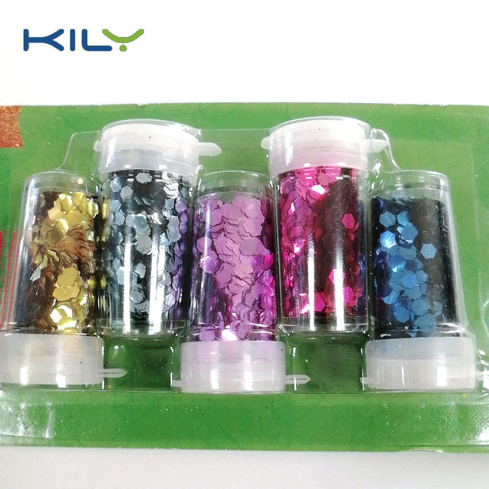 Plastic free glitter plant biodegradable shaker glitter kit for party