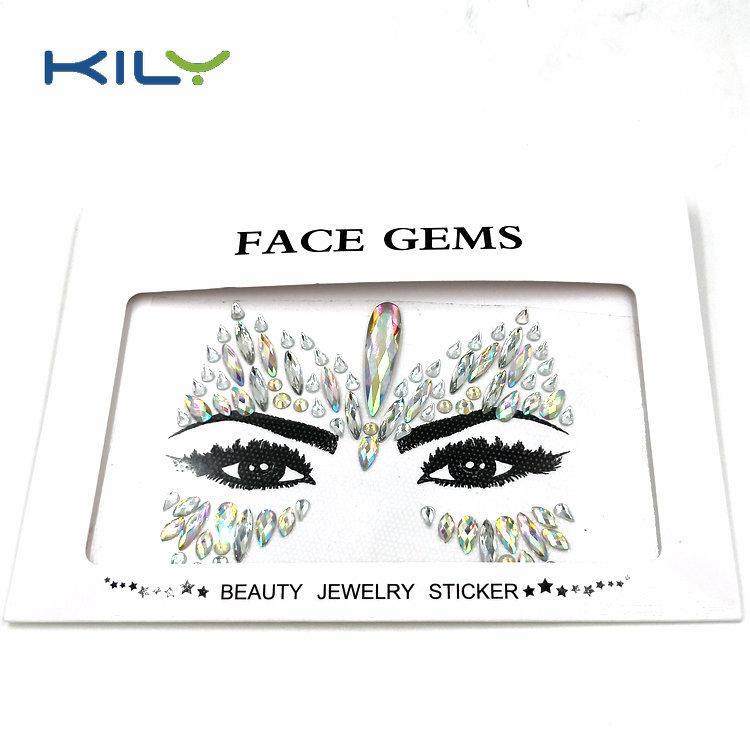 Halloween face gems sticker mermaid crystal jewels for makeup KB-1151-1