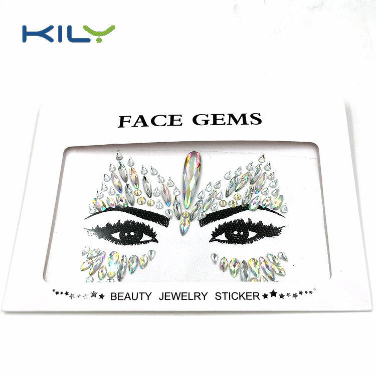 Halloween face gems sticker mermaid crystal jewels for makeup KB-1151-1