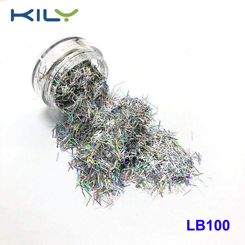 Tinsel shaped glitter cosmetic PET glitter for makeup