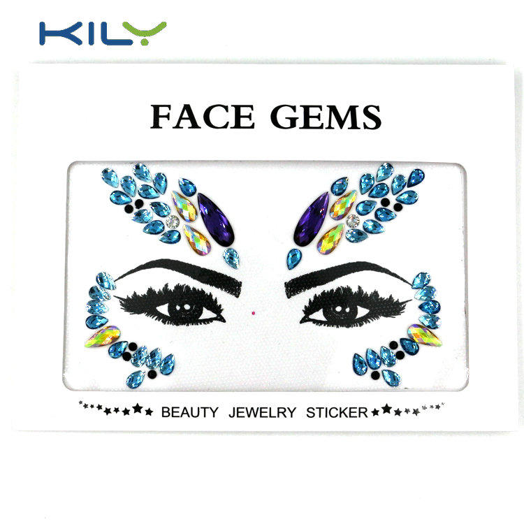 Halloween face jewels make up sticker adhesive gems sticker KB-1155