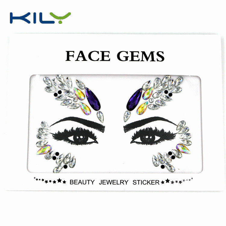 Face gems Halloween make up body art face paint decoration KB-1156