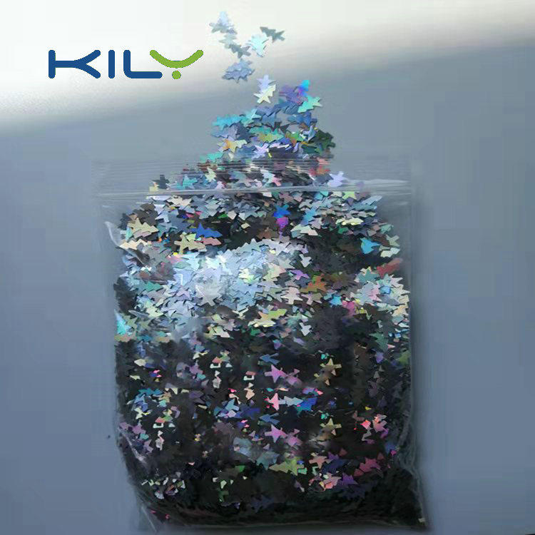 Christmas Tree Shapes Glitter X'mas PET Glitter Decoration