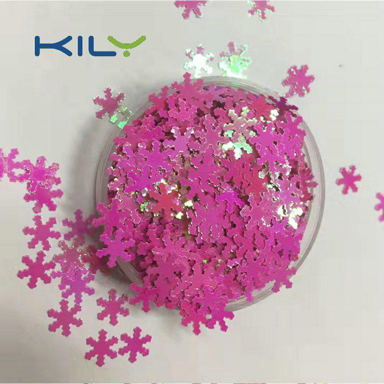 KILY safety different shaped glitter manufacturer for Christmas