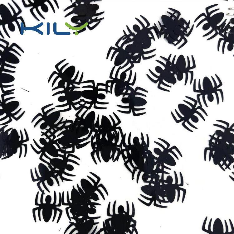 Spider Black Glitter Cosplay Makeup Polyester Glitter for Festival