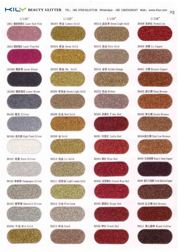 E-Catalog of Holographic Glitter Metallic Glitter Iridescent Glitter Fluorescent Glitter