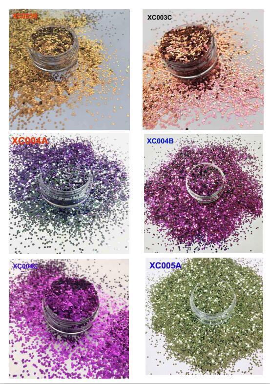 E-Catalog of Shifting Glitter Change Color Shifting