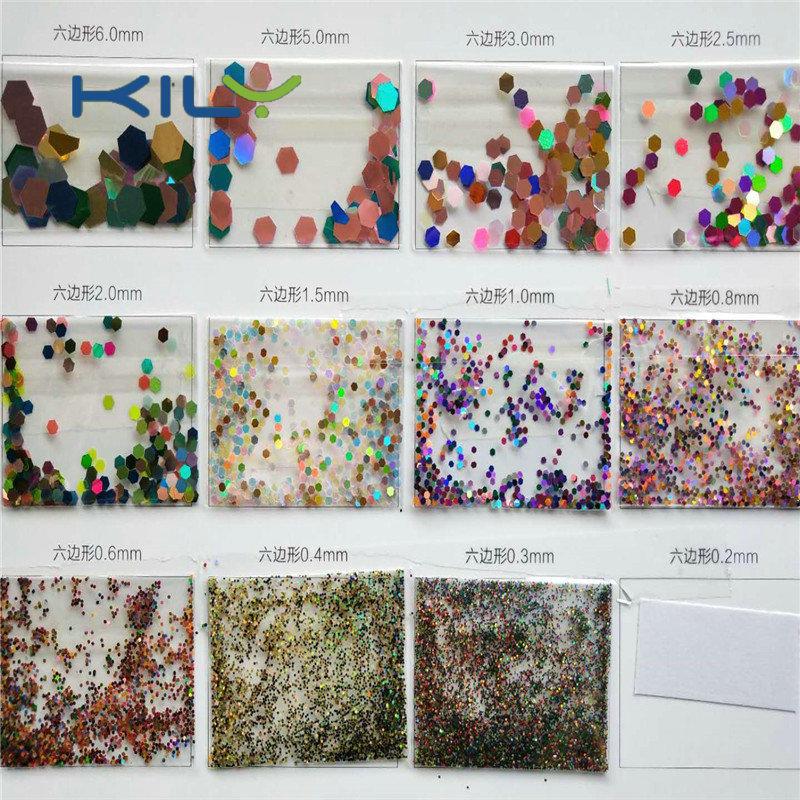 Custom special shape glitter manufacturer