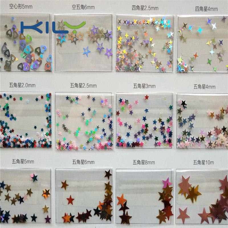 E-Catalog of special shape glitter