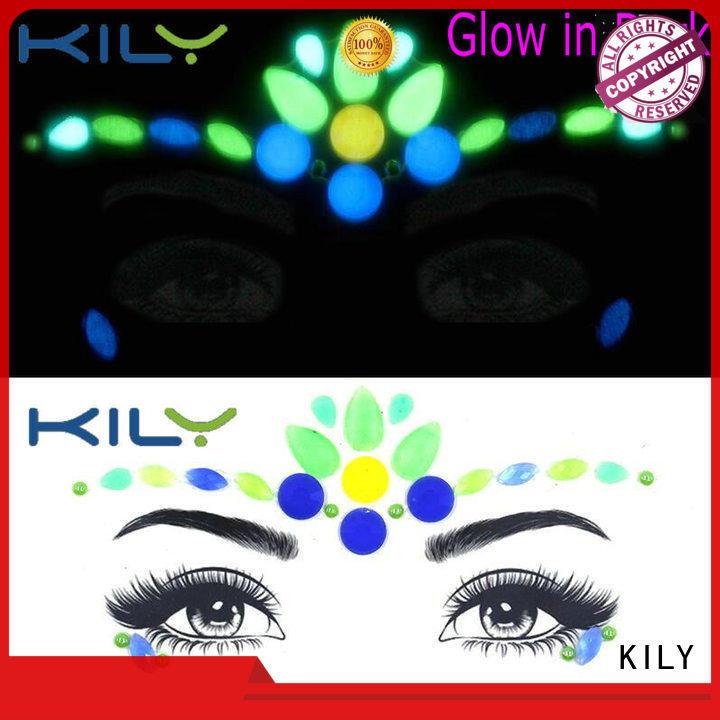 KILY online glow in dark face gems manufacturer for beach