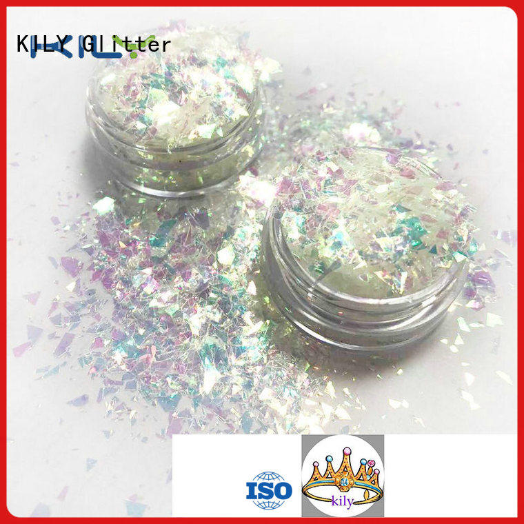 KILY polyester diamond shaped glitter manufacturer for beach