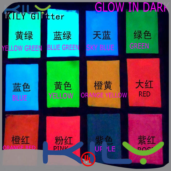 KILY pigment glow in dark glitter for garment