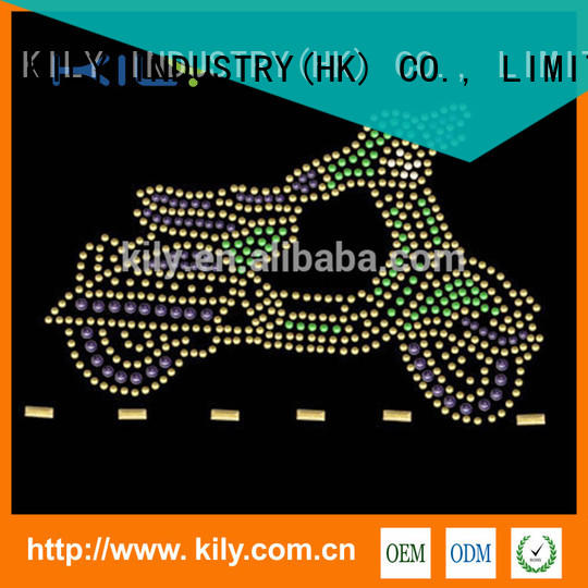 KILY safety wholesale rhinestone transfers manufacturer for Christmas