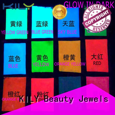 KILY online glow in dark glitter easy to apply for handbags