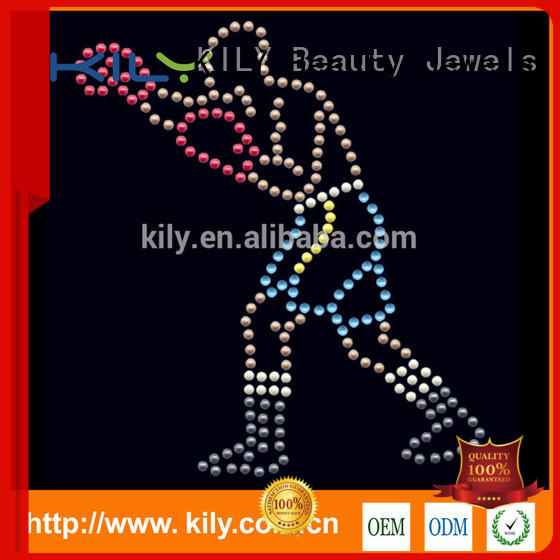 KILY hot sale custom rhinestone transfers for party