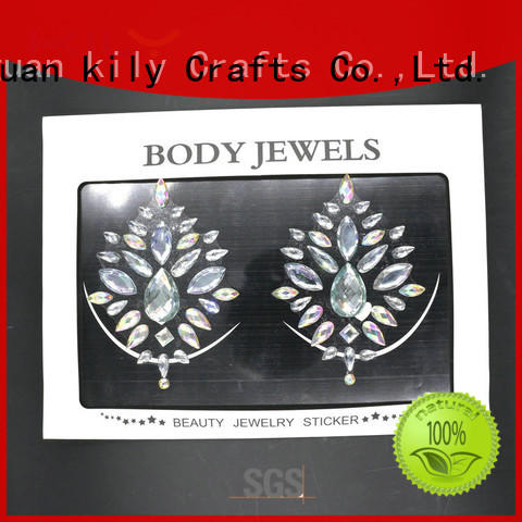 carnival gems body jewels chest KILY Brand