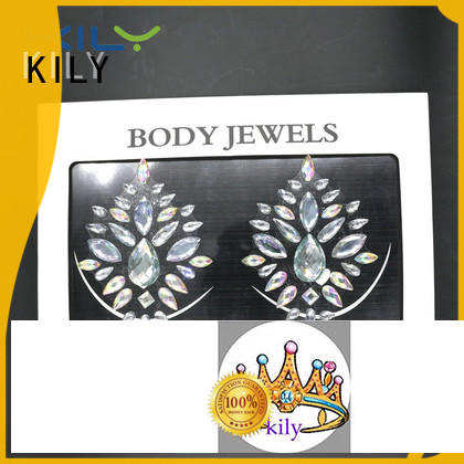 KILY hot sale custom body jewels carnival for sport meeting