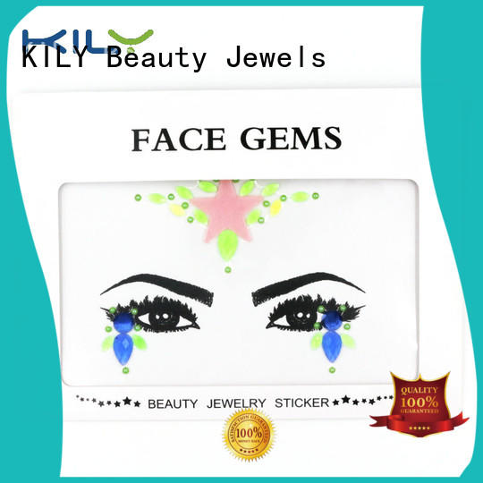 glow in dark face gems supplier for carnival KILY