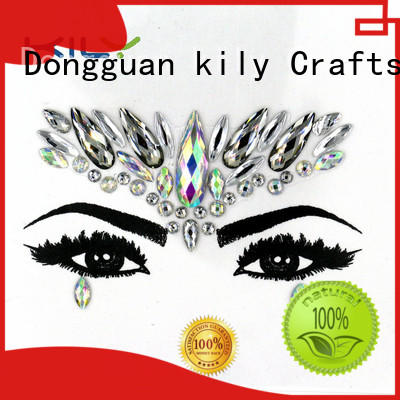 KILY custom red face jewels manufacturer for sport meeting