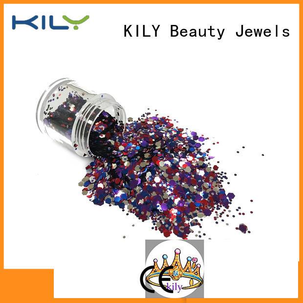 KILY chunky glitter series for fashion show