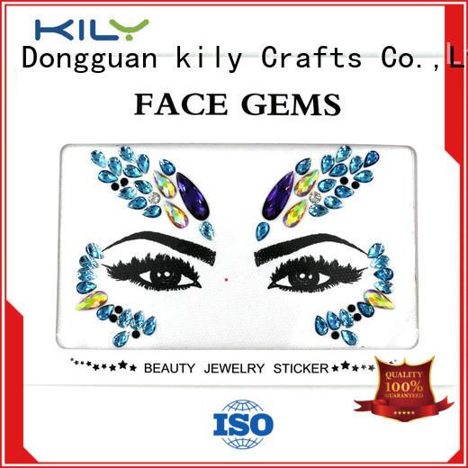 KILY professional face diamonds supplier for beach