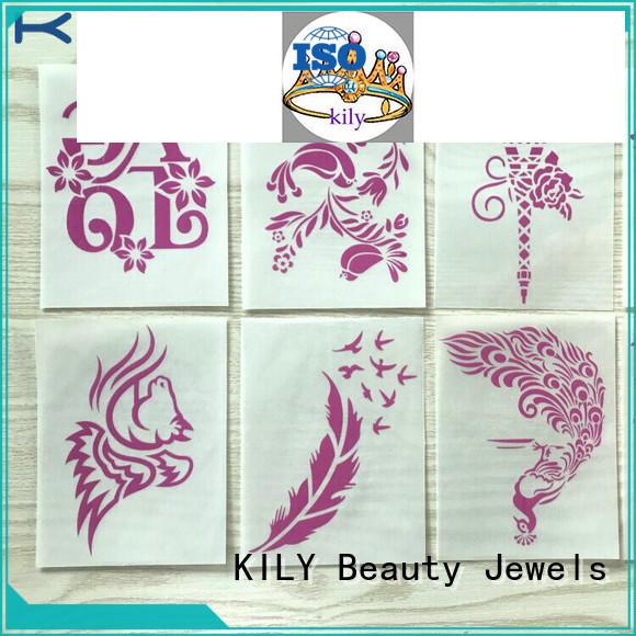 KILY safety Glitter Tattoo Stikcer supplier for body art