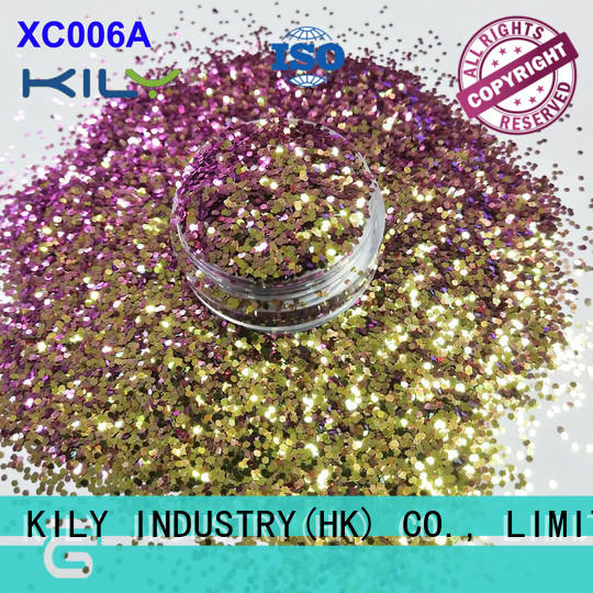 KILY safety cosmetic glitter manufacturer for beach