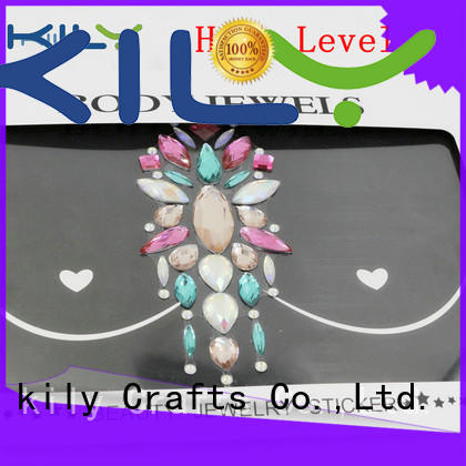 KILY Brand boob cover party festival body jewels manufacture