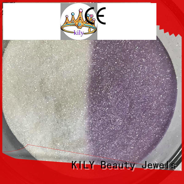 KILY eco-friendly uv glitter easy to apply for silk flowers