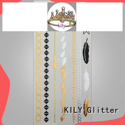 KILY body gold silver metallic tattoo wholesale for fashion show