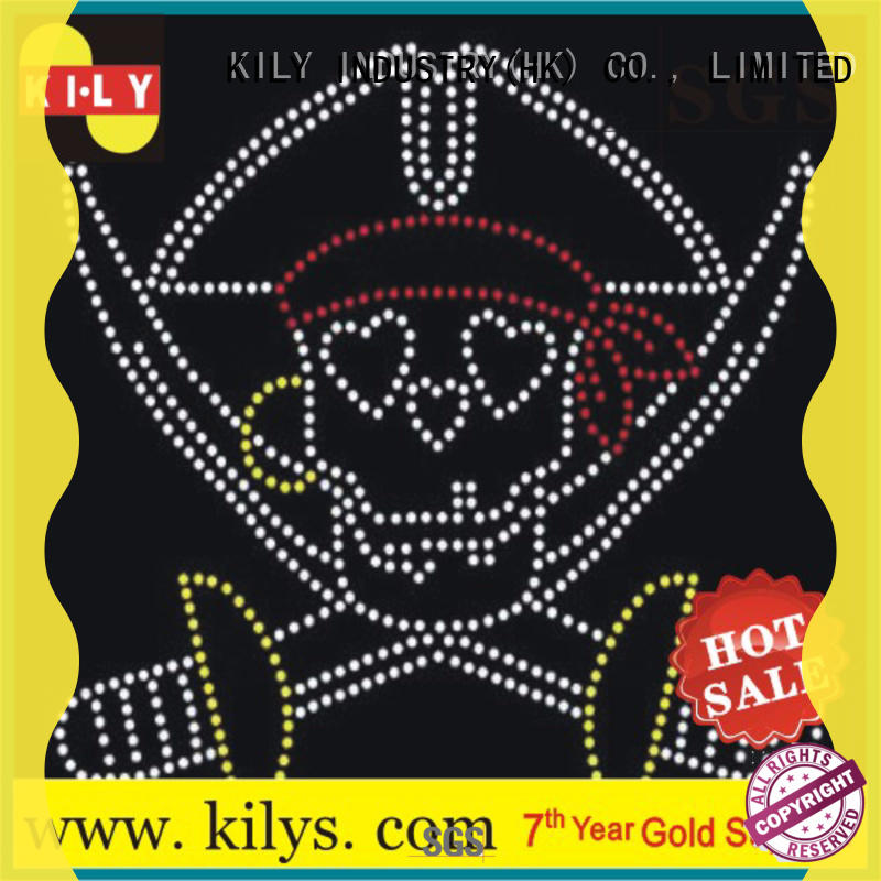 KILY non-toxic bling rhinestone transfers series for sport meeting