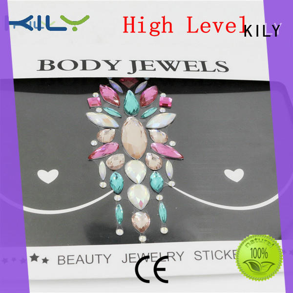 KILY boob festival body jewels supplier for fashion show