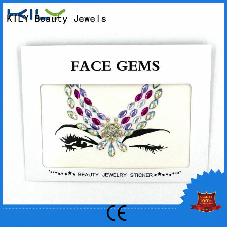 KILY professional jewels on face wholesale for beach