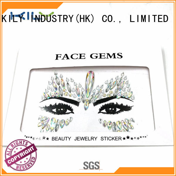 KILY custom jewels on face supplier for fashion show