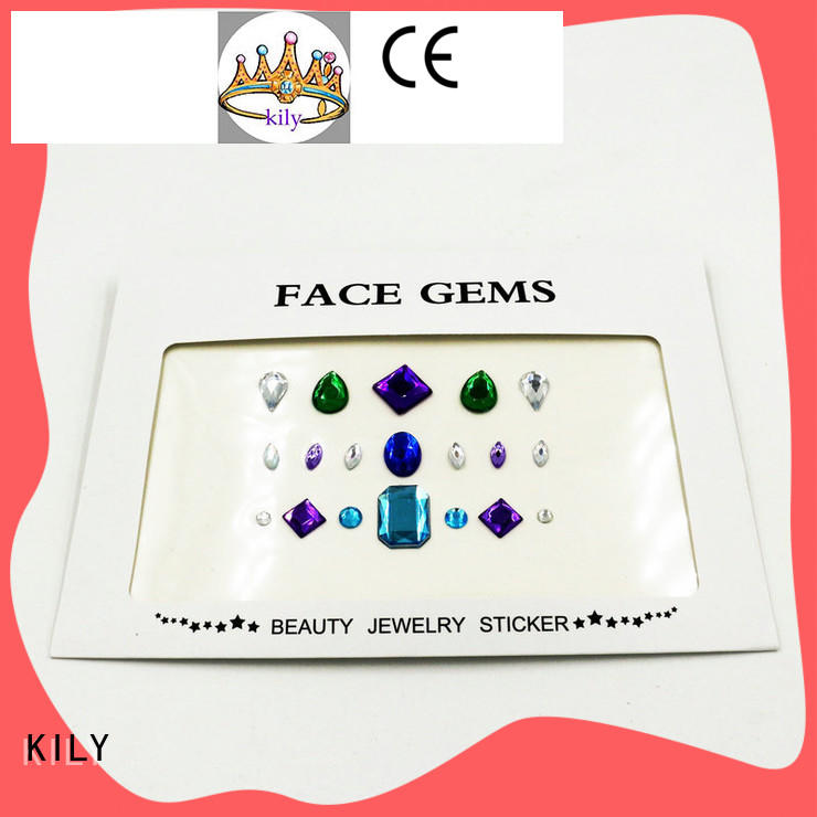 KILY crystal jewel stickers supplier for party