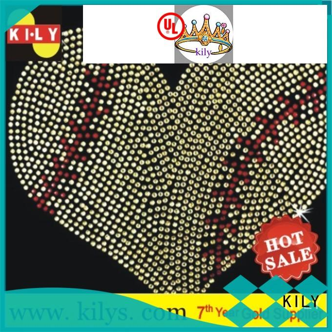 KILY safety hot fix motif wholesale for fashion show