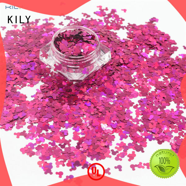 KILY safety cosmetic shaped glitter manufacturer for fashion show