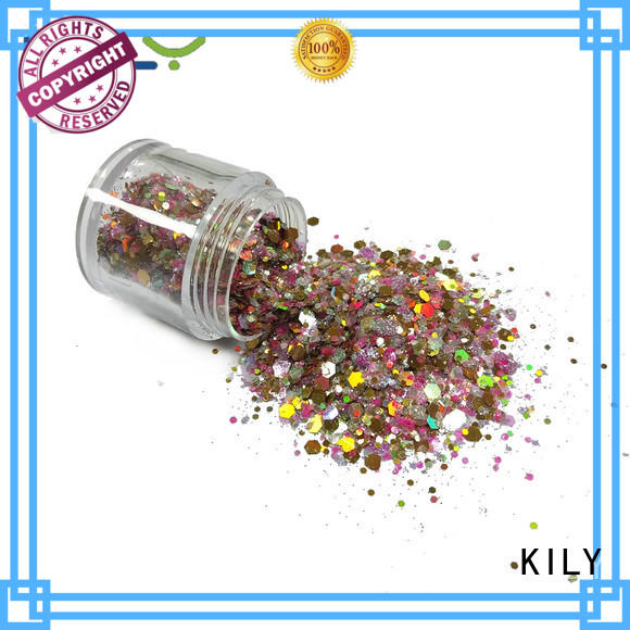 KILY safety mixed glitter supplier for fashion show
