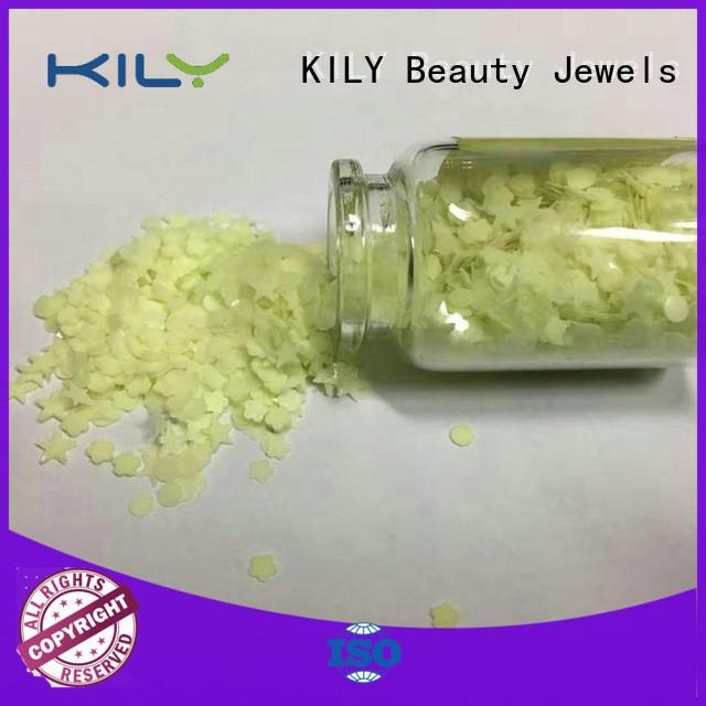 KILY glow in dark glitter supplier for handicrafts