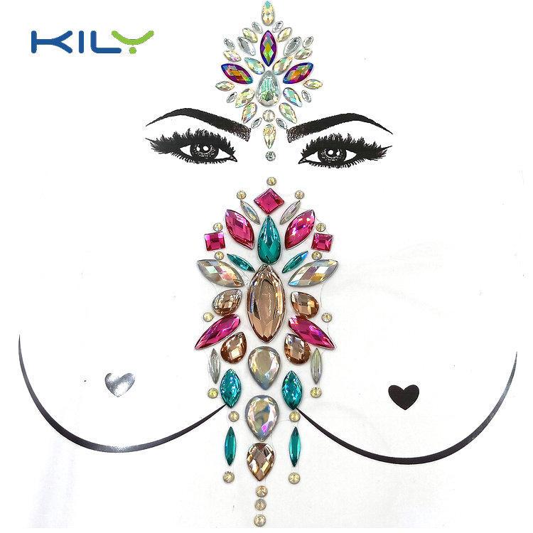 KILY face gem tattoo supplier for sport meeting-1