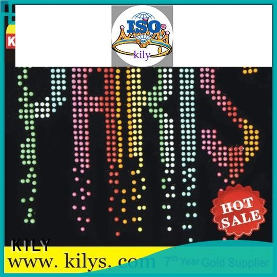 KILY rhinestone transfers supplier for party