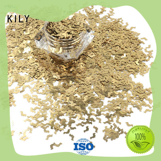 KILY online shaped glitter supplier for fashion show
