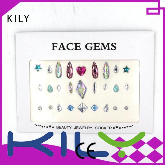 Hot crystal diy face gems body gems KILY Brand