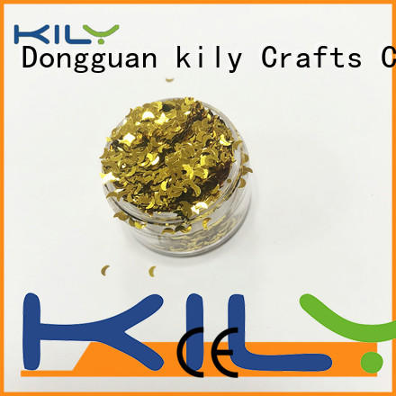 KILY polyester shaped glitter manufacturer for beach