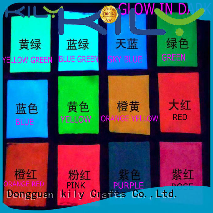 professional glow in dark glitter with solvent resistance for handicrafts