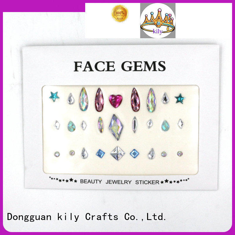 KILY hot sale rhinestone sticker sheets for Christmas