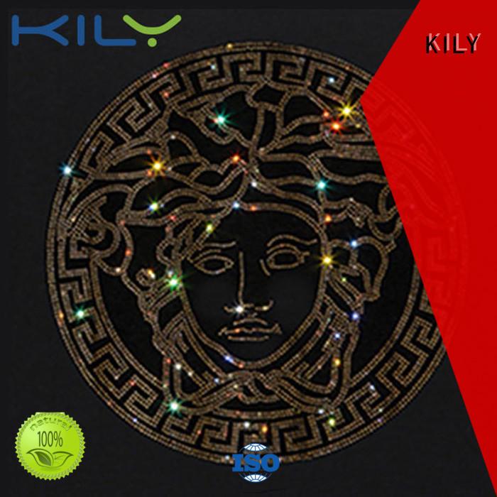 KILY professional bling rhinestone transfers supplier for music festival